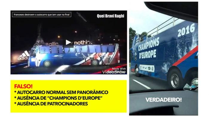 FAKE! Vídeo mostra franceses a destruírem autocarro do Euro 2016