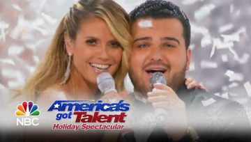 Heidi Klum cai em directo no Got Talent Americano